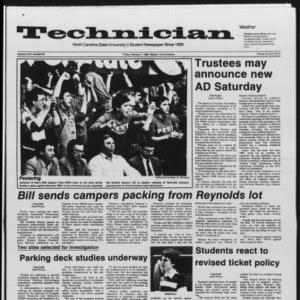 Technician, Vol. 67 No. 55 [54], February 7, 1986