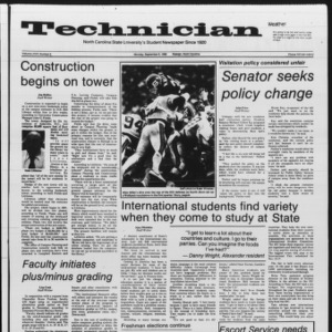 Technician, Vol. 67 No. 6, September 9, 1985