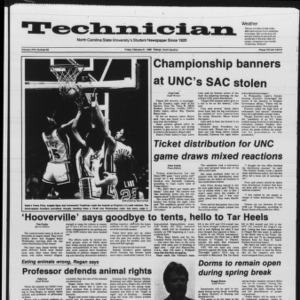 Technician, Vol. 67 No. 60, February 21, 1986