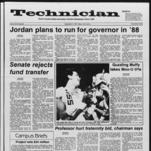 Technician, Vol. 67 No. 65, March 14, 1986