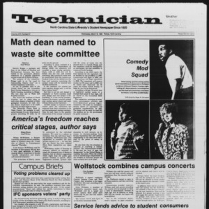 Technician, Vol. 67 No. 67, March 19, 1986