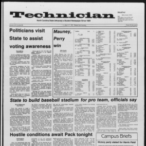Technician, Vol. 67 No. 68, March 21, 1986