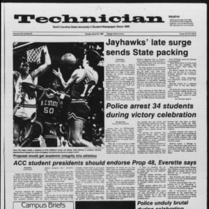 Technician, Vol. 67 No. 69, March 24, 1986