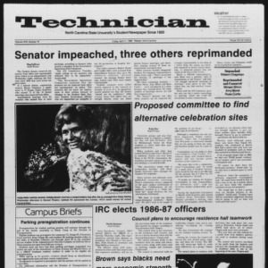 Technician, Vol. 67 No. 76, April 11, 1986