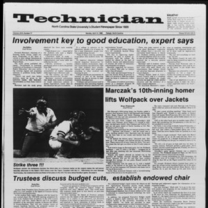 Technician, Vol. 67 No. 77, April 14, 1986