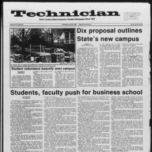 Technician, Vol. 67 No. 81, April 23, 1986