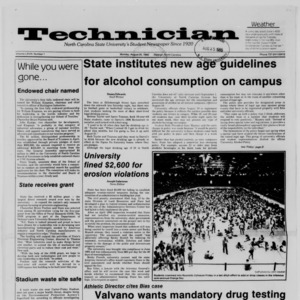 Technician, Vol. 68 No. 1, August 25, 1986