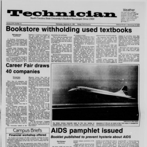 Technician, Vol. 68 No. 13, September 24, 1986