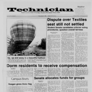 Technician, Vol. 68 No. 17, October 3, 1986