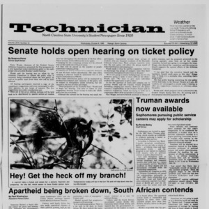 Technician, Vol. 68 No. 19, October 8, 1986