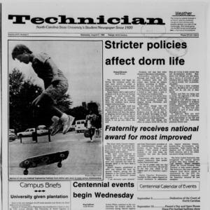 Technician, Vol. 68 No. 2, August 27, 1986