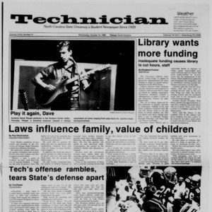 Technician, Vol. 68 No. 21, October 15, 1986