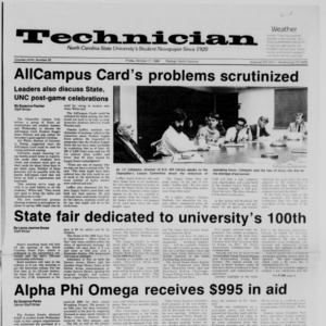 Technician, Vol. 68 No. 22, October 17, 1986