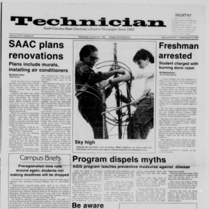 Technician, Vol. 68 No. 24, October 22, 1986