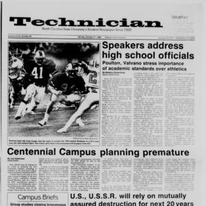 Technician, Vol. 68 No. 26, October 27, 1986