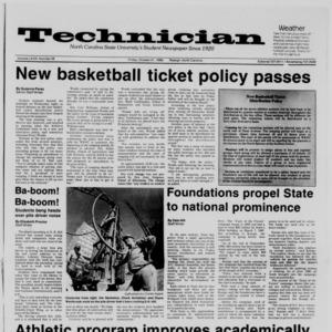 Technician, Vol. 68 No. 28, October 31, 1986