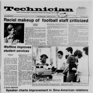 Technician, Vol. 68 No. 3, August 29, 1986