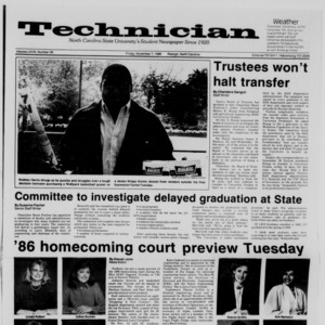 Technician, Vol. 68 No. 30 [31], November 7, 1986