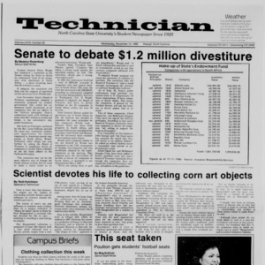 Technician, Vol. 68 No. 32 [33], November 12, 1986