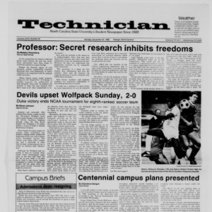 Technician, Vol. 68 No. 35 [38], November 24, 1986