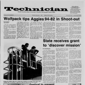 Technician, Vol. 68 No. 36 [40], December 1, 1986