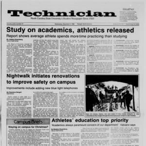 Technician, Vol. 68 No. 37 [41], December 3, 1986