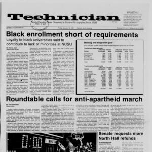 Technician, Vol. 68 No. 43 [47], January 16, 1987