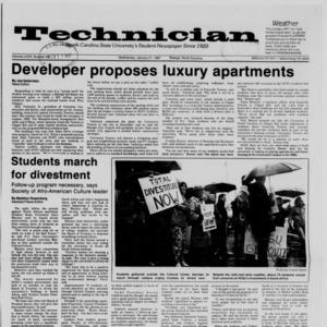Technician, Vol. 68 No. 45 [49], January 21, 1987