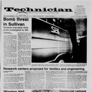 Technician, Vol. 68 No. 47 [51], January 26, 1987