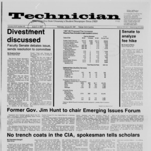 Technician, Vol. 68 No. 48 [52], January 28, 1987