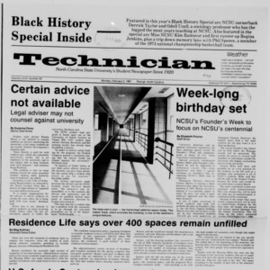 Technician, Vol. 68 No. 50 [54], February 2, 1987