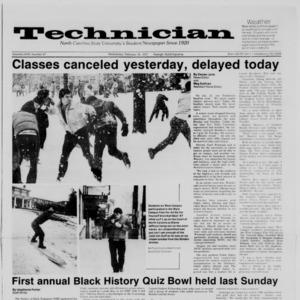 Technician, Vol. 68 No. 57 [61], February 18, 1987
