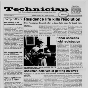 Technician, Vol. 68 No. 60 [64], February 25, 1987