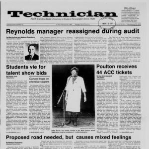 Technician, Vol. 68 No. 61 [65], February 27, 1987