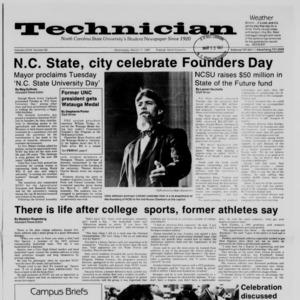 Technician, Vol. 68 No. 63 [67], March 11, 1987