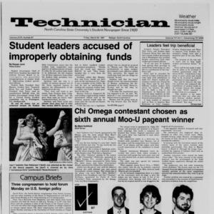 Technician, Vol. 68 No. 67 [71], March 20, 1987