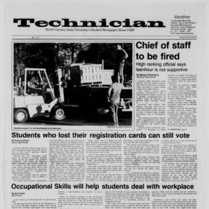 Technician, Vol. 68 No. 68 [72], March 23, 1987