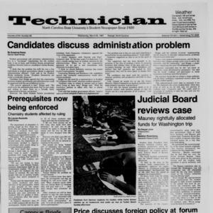 Technician, Vol. 68 No. 69 [73], March 25, 1987