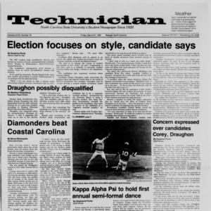 Technician, Vol. 68 No. 70 [74], March 27, 1987