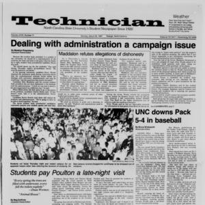 Technician, Vol. 68 No. 71 [75], March 30, 1987