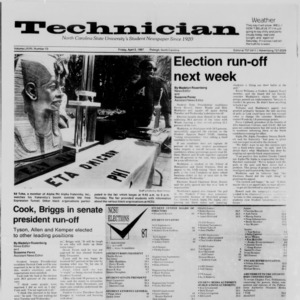 Technician, Vol. 68 No. 73 [77], April 3, 1987