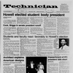Technician, Vol. 68 No. 76 [80], April 10, 1987