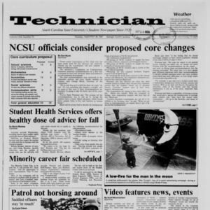 Technician, Vol. 69 No. 15, September 28, 1987