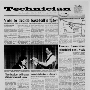 Technician, Vol. 69 No. 16, September 30, 1987