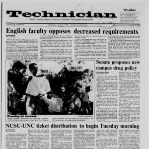 Technician, Vol. 69 No. 19, October 7, 1987