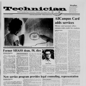 Technician, Vol. 69 No. 2, August 26, 1987