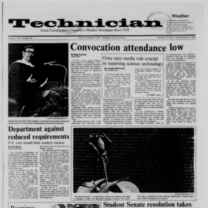 Technician, Vol. 69 No. 20, October 9, 1987