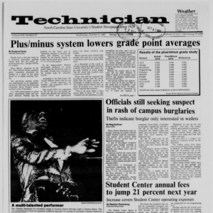 Technician, Vol. 69 No. 24, October 21, 1987