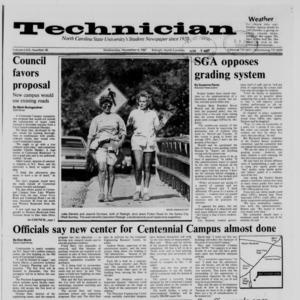 Technician, Vol. 69 No. 30, November 4, 1987