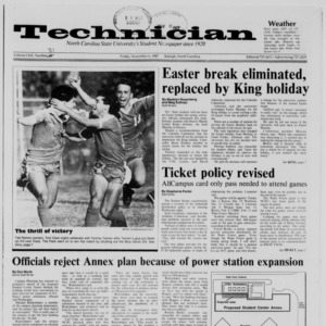 Technician, Vol. 69 No. 31, November 6, 1987